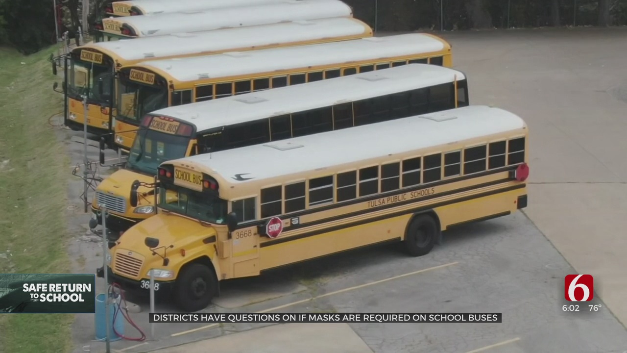 Oklahoma Districts Differ On Mask Expectations On School Bus
