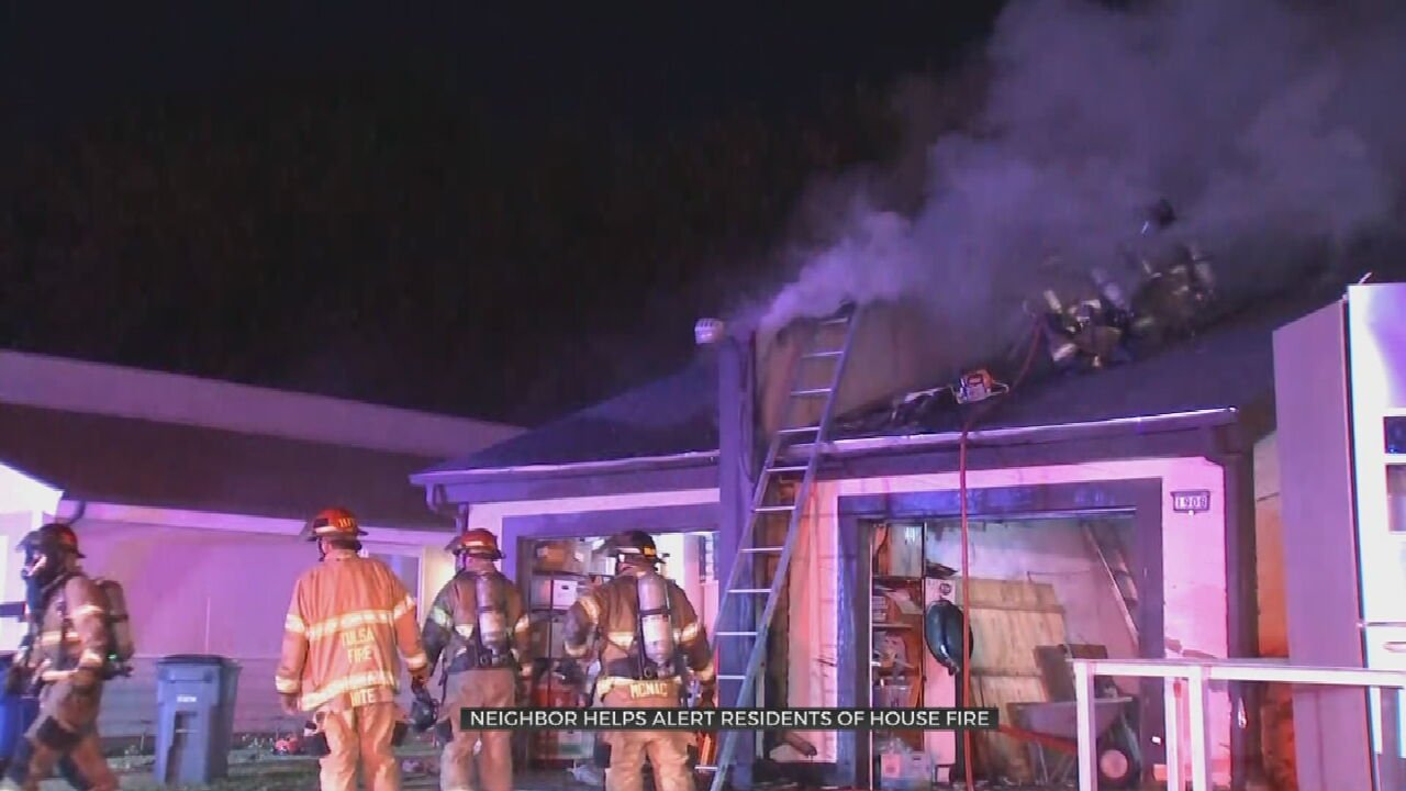 Four Displaced After Early Morning Fire At West Tulsa Fourplex
