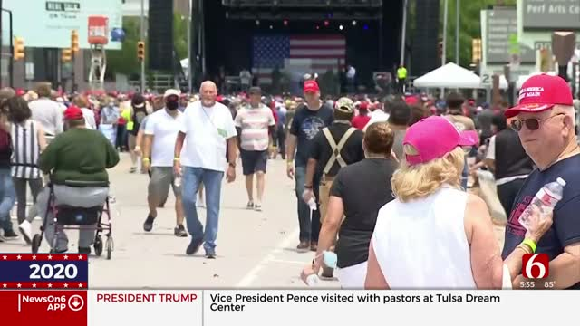 Tulsa Police Seek To Maintain Safety In Downtown Tulsa For Rally