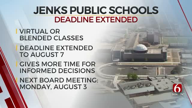 Jenks Public Schools Delays Deadline For Parents To Decide Best Option