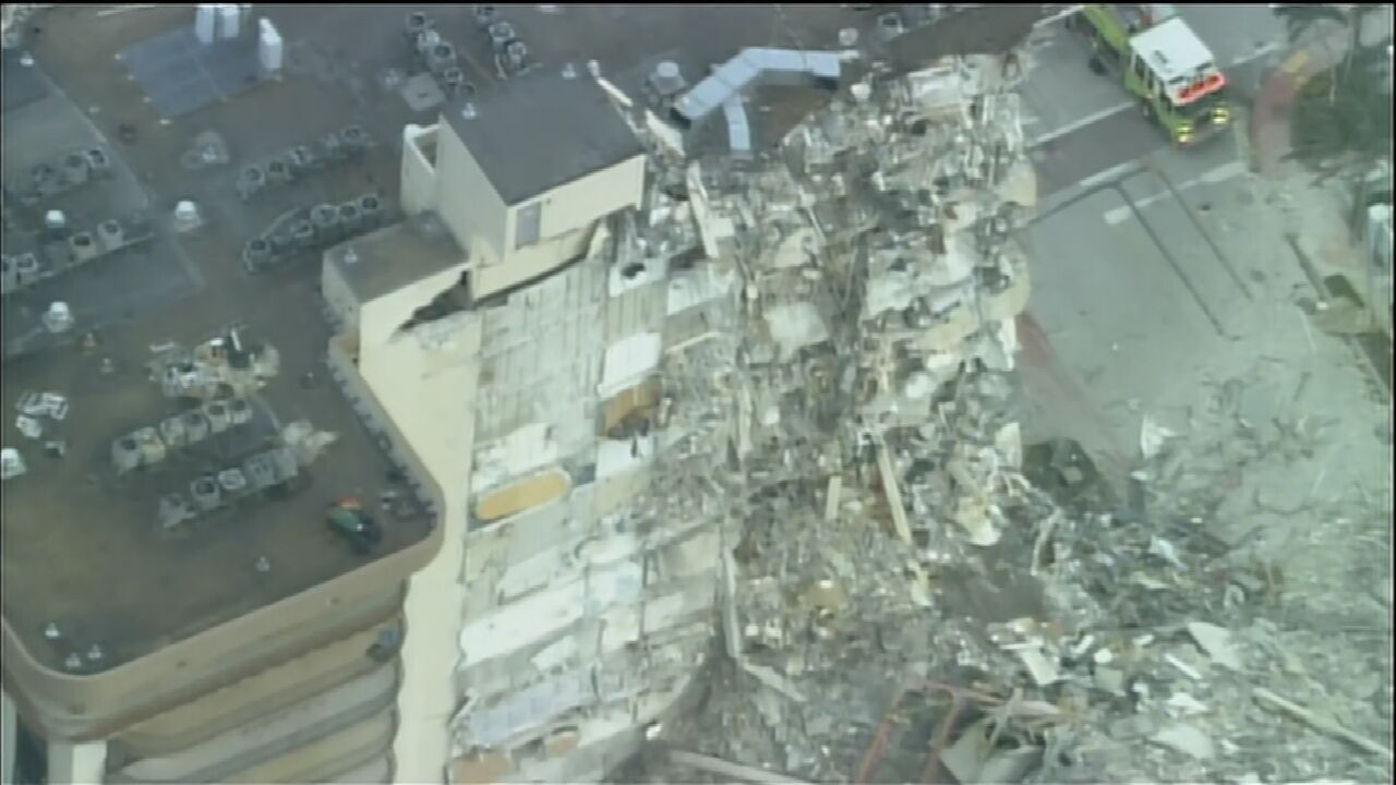 Building Collapse Causes Massive Emergency Response In Miami, Florida