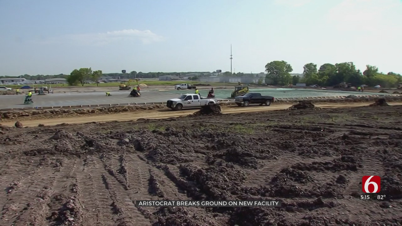 Casino Gaming Manufacturing Company Breaks Ground On Tulsa Facility