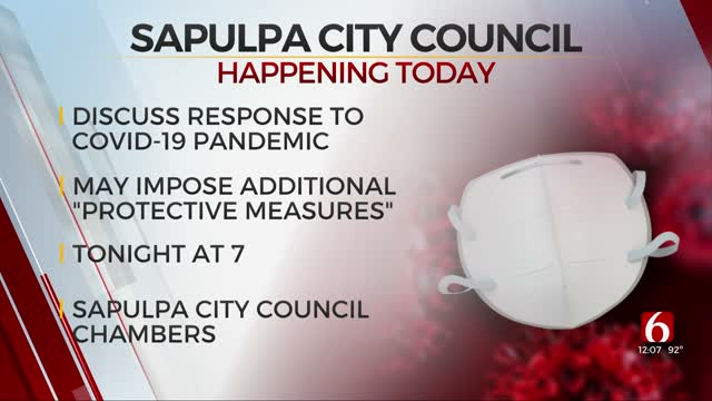 City Of Sapulpa To Consider Mask Mandate