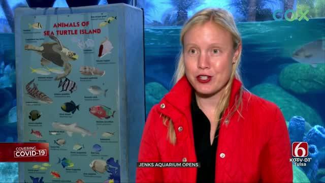 Jenks Aquarium Opens, Limits Number Of Visitors