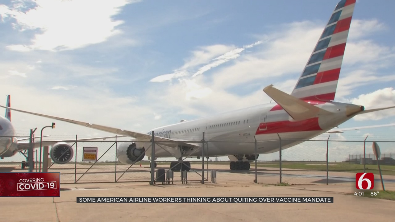 Union For American Airlines Workers Expects Some Employees To Leave Over Vaccine Mandate