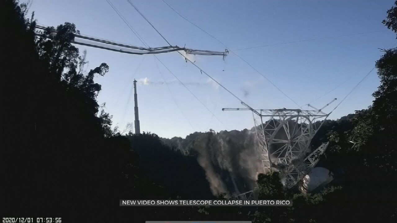 Dramatic Video Shows Collapse At Iconic Arecibo Observatory