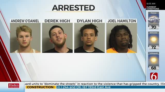 Tulsa Police: 4 Arrested During Overnight Protests