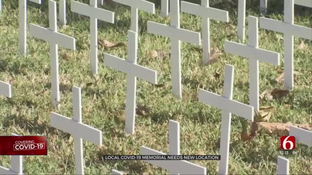 Tulsa Man Looking For New Area To Display COVID-19 Cross Memorial