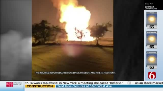 Watch: Gas Line Explosion Causes Fire In Piedmont