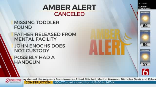 Amber Alert Canceled For McIntosh Co.18-Month-Old Girl
