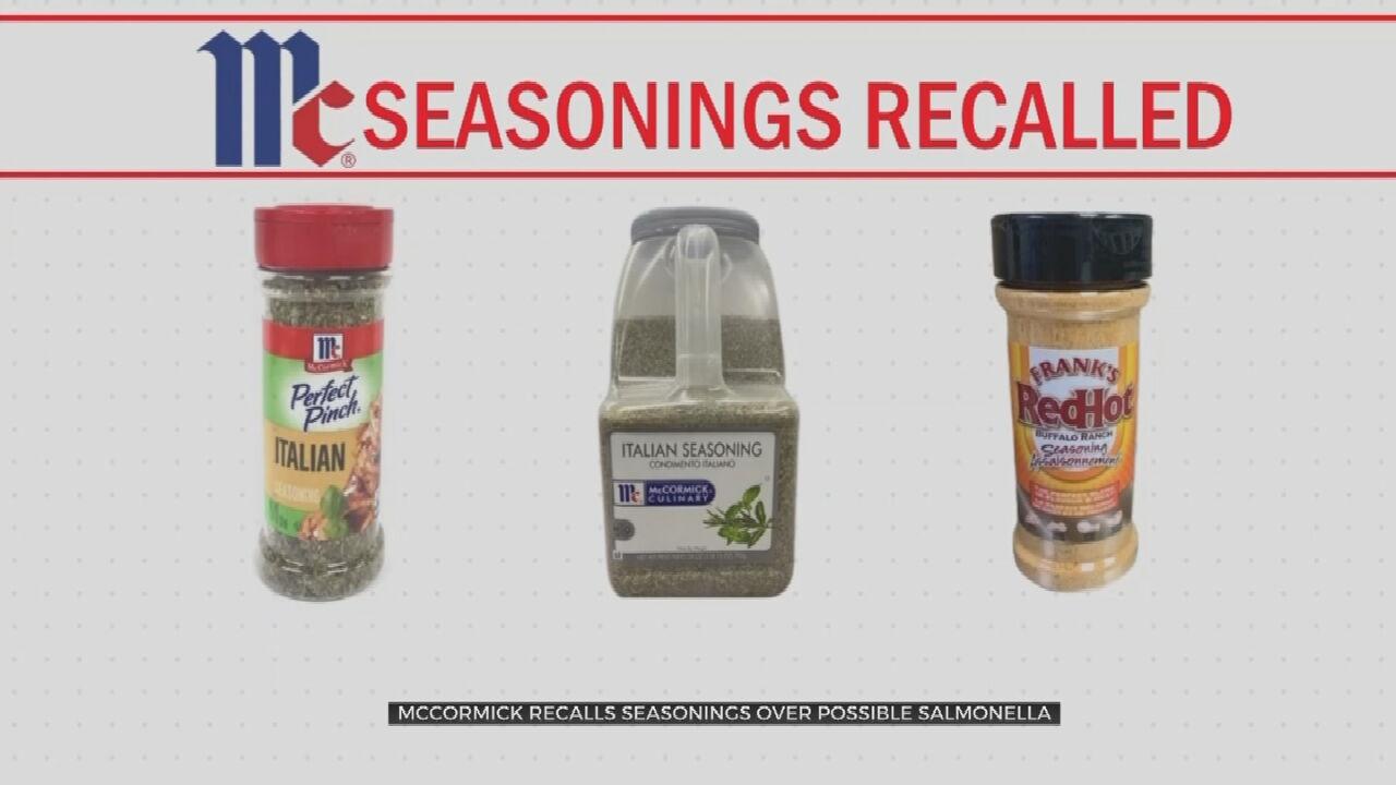 McCormick Recalls 3 Seasonings Due To Salmonella Concerns