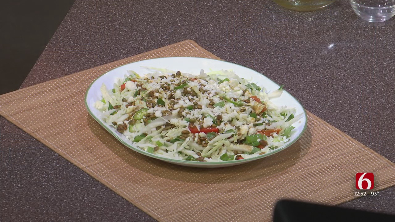 Green Cabbage Salad With Spiced Pepitas