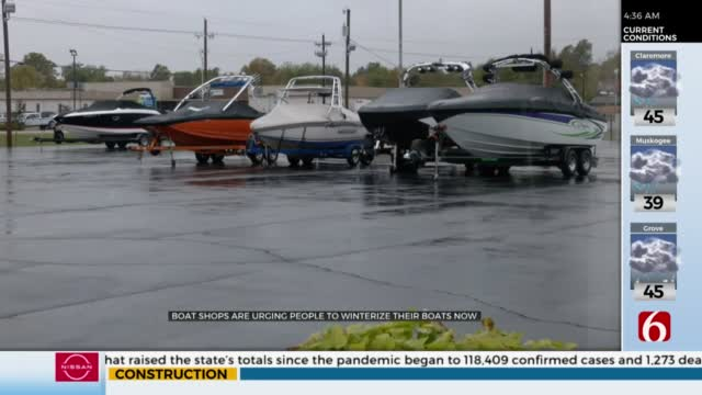 Boat Dealers Urge New Owners To Winterize Boats Before It's Too Late
