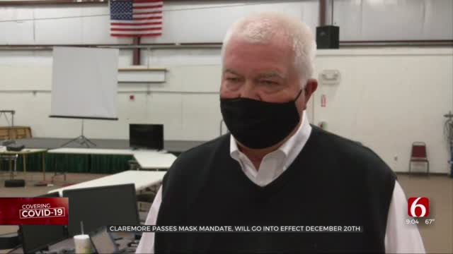 City Of Claremore Passes Mask Mandate, Takes Effect Dec. 20
