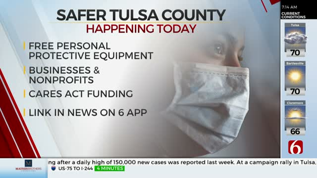 Tulsa County Agencies Providing PPE Kits To Small Businesses