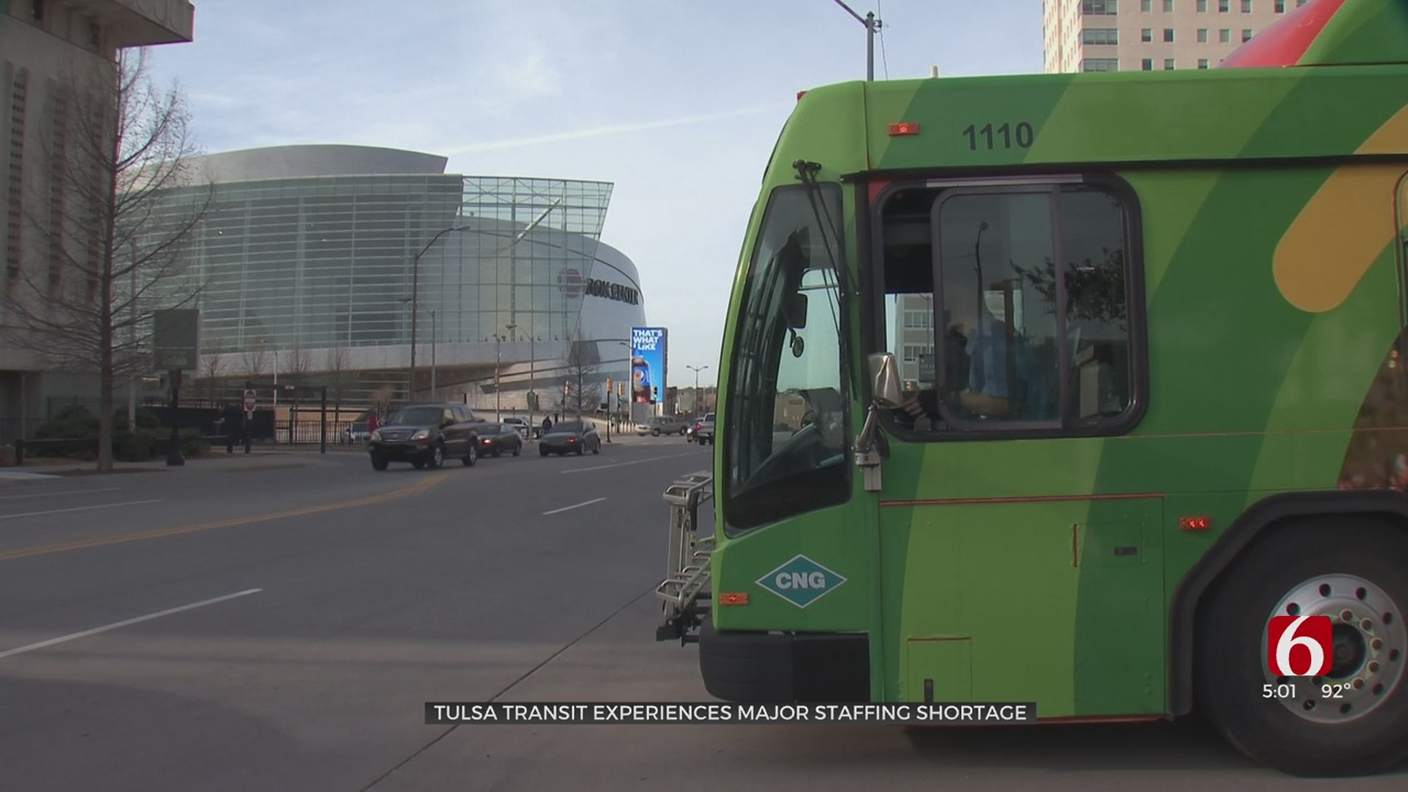 Tulsa Transit Experiencing Major Staffing Shortage