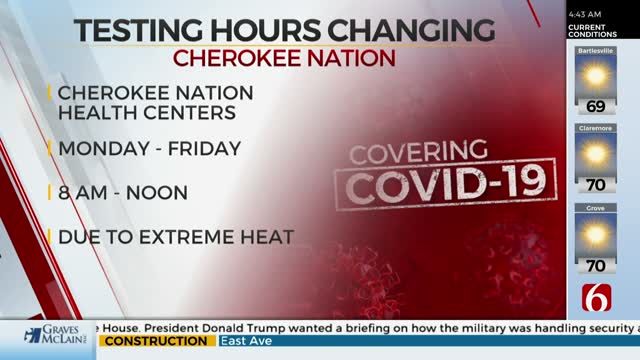 Cherokee Nation Changes COVID-19 Drive-Thru Testing Hours Due To Extreme Heat