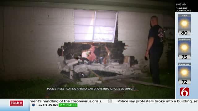 Driver Crashes Into Tulsa Duplex Overnight