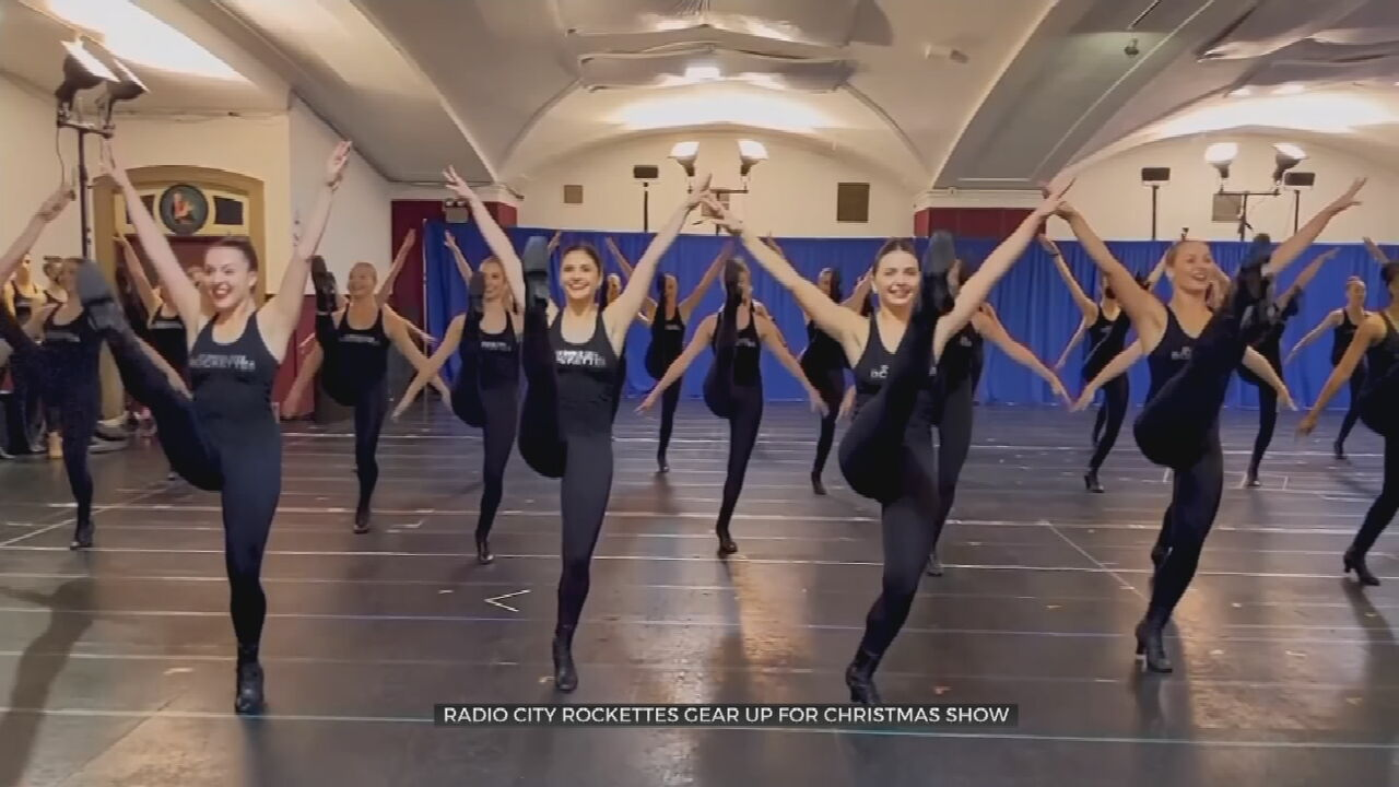 Radio City Rockettes Gear Up For Christmas Show