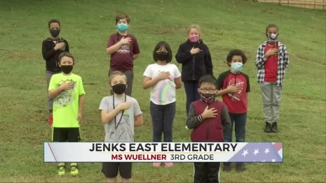 Daily Pledge: Ms. Wuellner's 3rd Grade Class