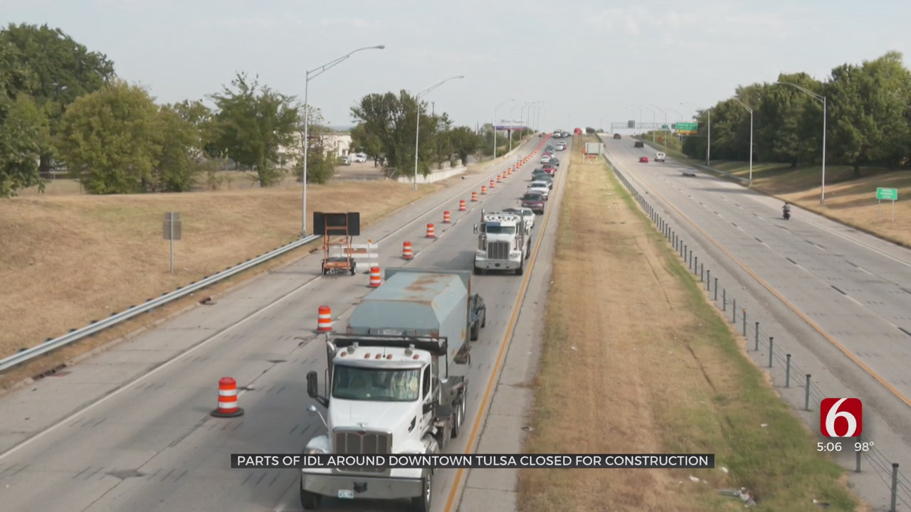 Major Project Begins On Tulsa's Downtown Highway Loop, Another Wraps Up