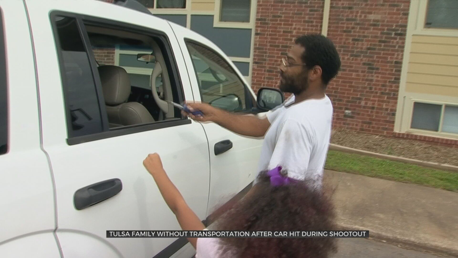 Tulsa Family Without Transportation After Car Destroyed In Crossfire From Shootout