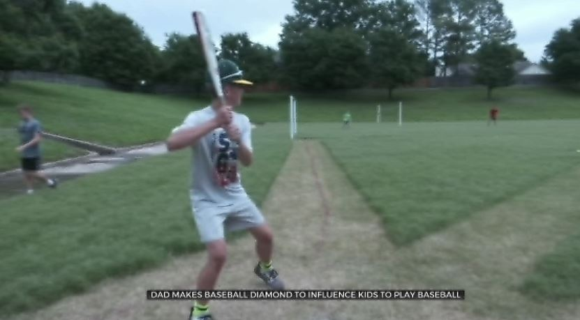 Father, Son Build Homemade Baseball Diamond In Tulsa Neighborhood