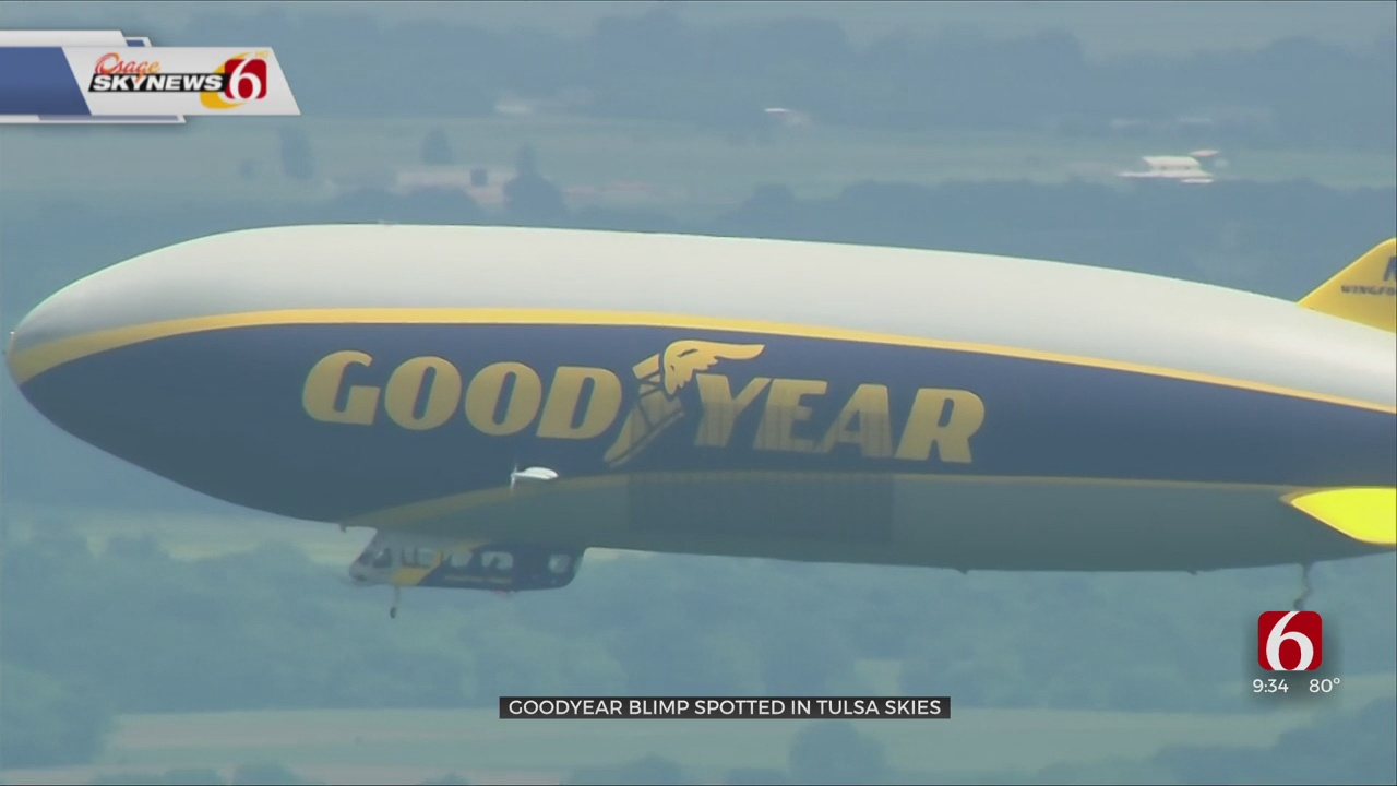 Watch: Goodyear Blimp Spotted Flying Over Tulsa