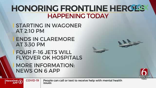 F-16 Flyovers To Thank Healthcare Workers Continues Friday