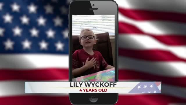 Daily Pledge: 4-Year-Old Lily