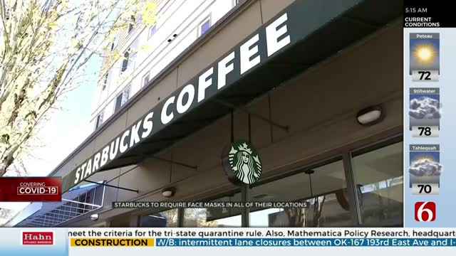 Starbucks Requiring All U.S. Customers To Wear Masks Starting July 15