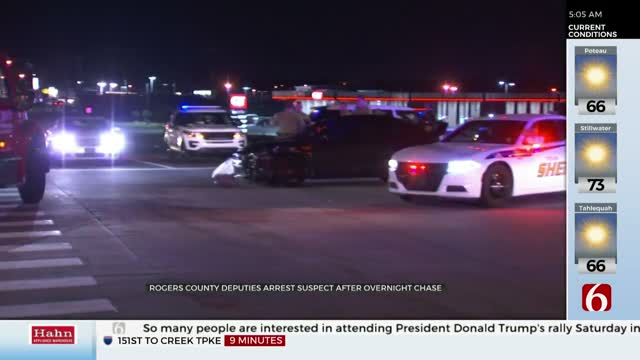 1 Arrested After Rogers County Chase Ends In Tulsa