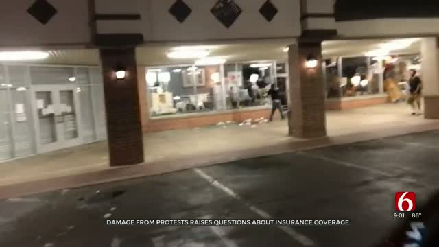 Tulsa Businesses Worry Insurance Won't Cover Recent Vandalism From Protests