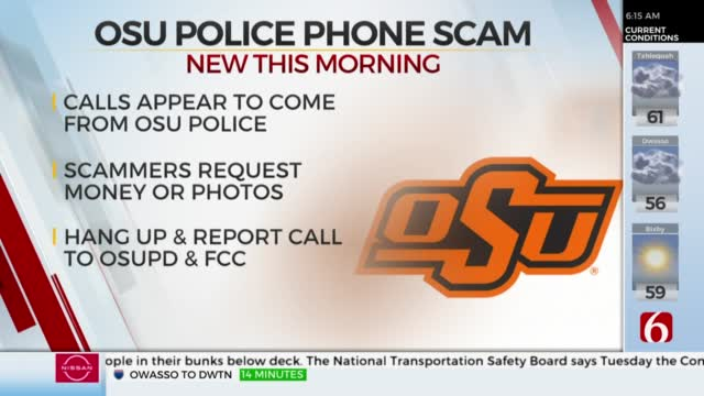 OSUPD Warns of 'Spoofing' Calls Requesting Nude Photos And Money