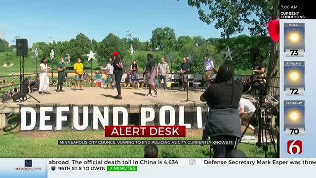 Minneapolis Council Majority Backs Disbanding Police Force