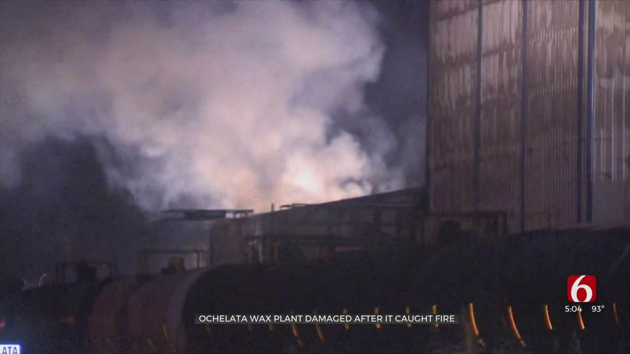 Firefighters To Monitor Hot Spots After Major Fire At Ochelata Wax Plant