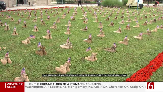 'Field Of Heroes' Honors Fallen Tulsa-Area Service Members On Memorial Day