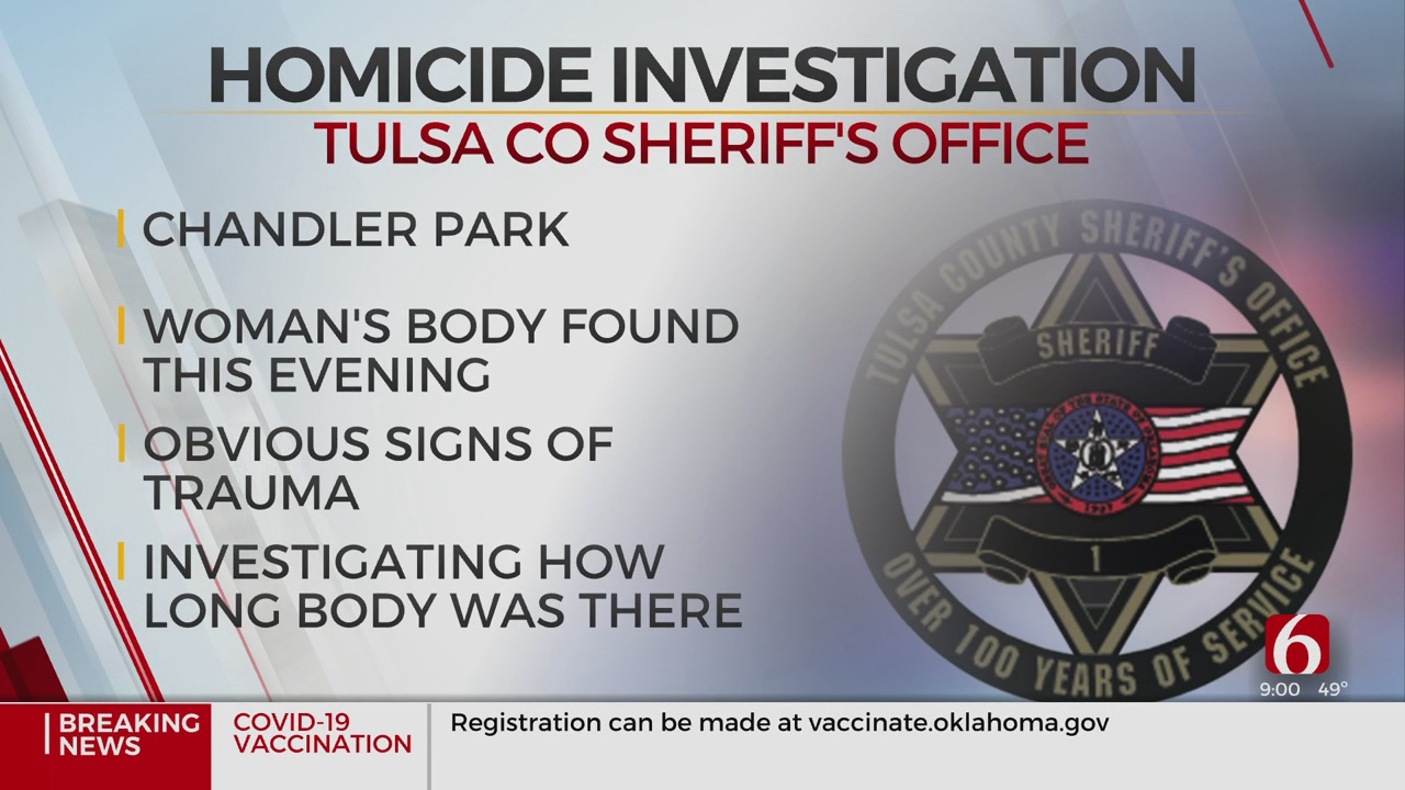 Tulsa County Sheriff's Office Investigating Body Found At Park