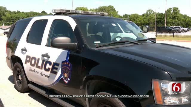 2 Arrested After Broken Arrow Officer Shot, Police Say