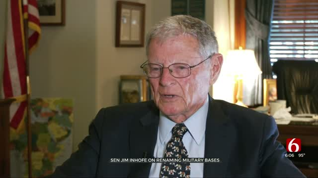 President's Tweet Suggests Sen. Inhofe Standing Strong Against Name Changes