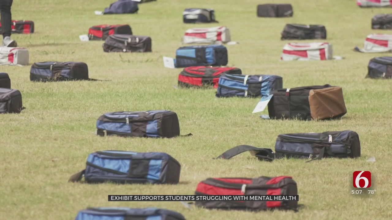 Backpacks Spread Across TCC Campus To Remember Those Lost To Suicide
