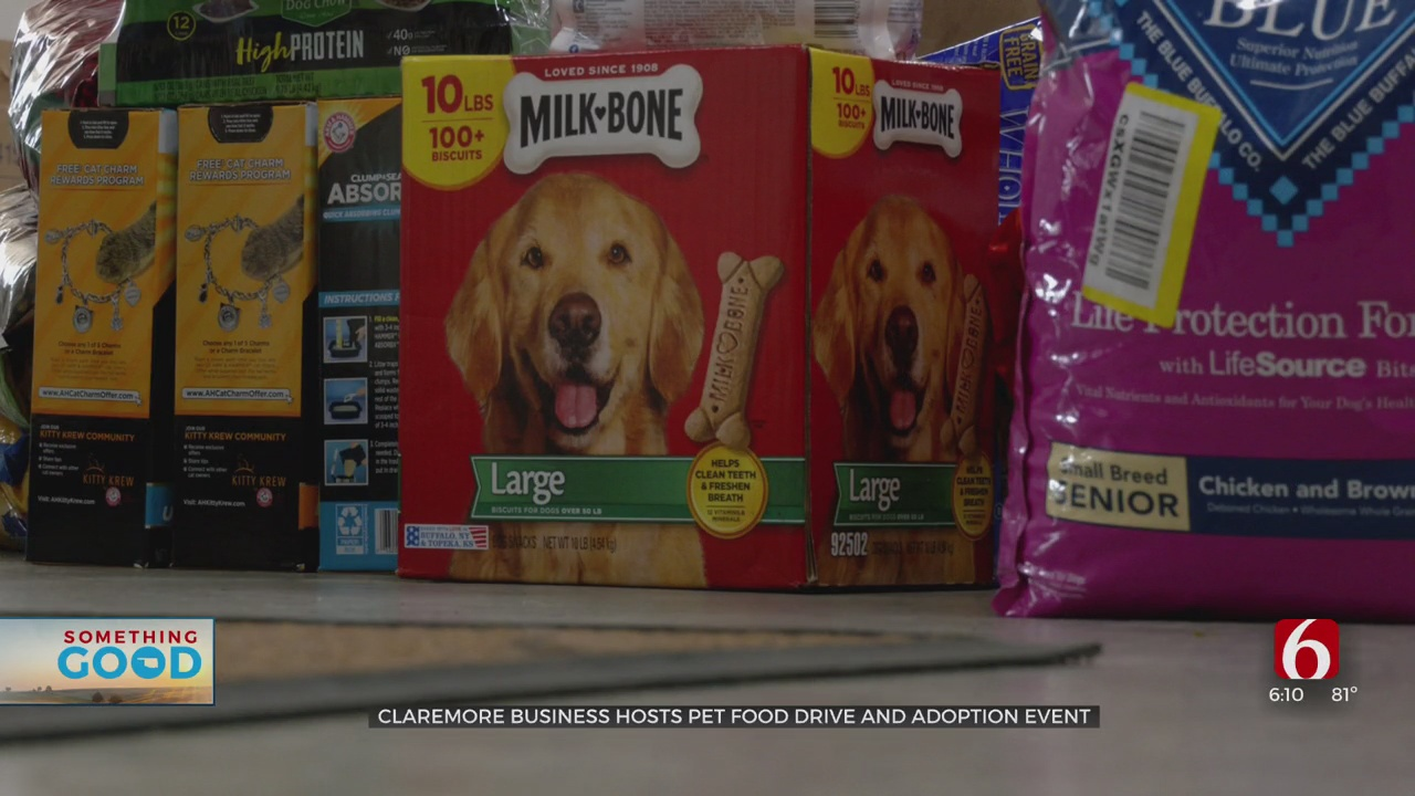 Claremore Business Goes All Out For Pet Food, Animal Adoption Drive