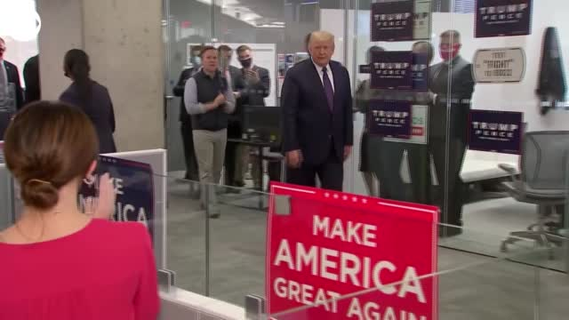 President Trump Visits RNC Offices On Election Day