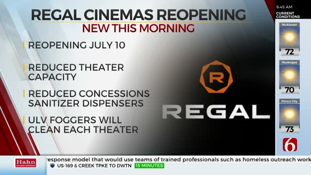 Regal Cinemas Announces Reopening Date