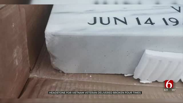 Headstone For Vietnam Veteran Delivered Broken 4 Times