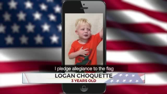Daily Pledge: 3-Year-Old Logan