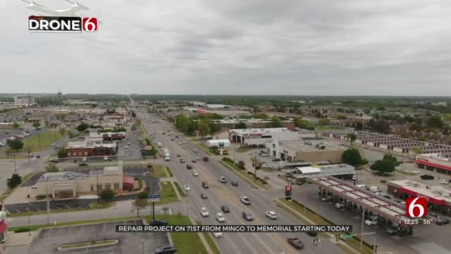 Road Repair Project To Begin On 71st St Between Mingo, South Memorial