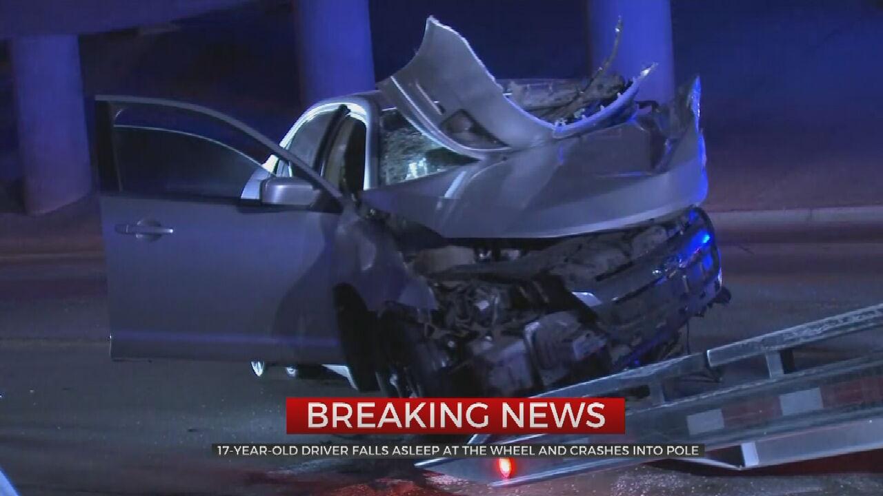 Teen Injured In Early Morning Crash, Tulsa Police Say