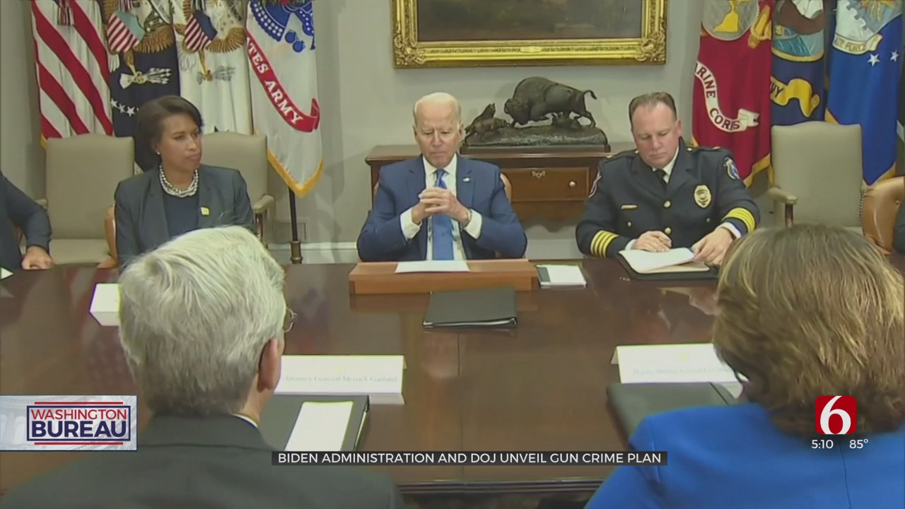 Biden To Discuss Strategy To Reduce Gun Crimes With AG, Local Law Enforcement Officials