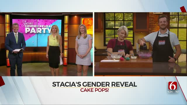 Watch: Amber & Brooks Help News On 6's Stacia Knight Reveal Baby's Gender